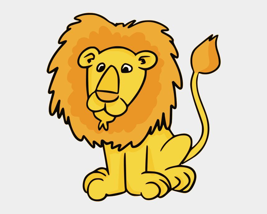 clipart animals, Cartoons - Lion Male Clipart - Lion Clipart