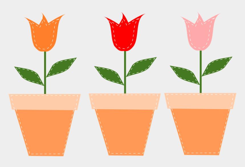 tulips clipart, Cartoons - Flower Pots Pots Tulips Flowers Pot Tulip Floral - Mothers Day Flower Clipart