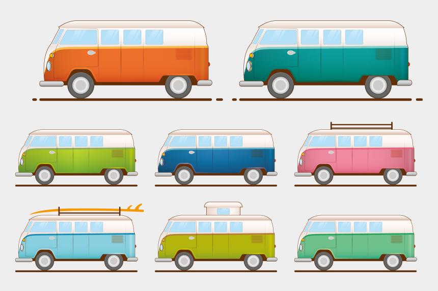 camper clipart, Cartoons - Minivan Volkswagen Type 2 Car - Volkswagen Type 2