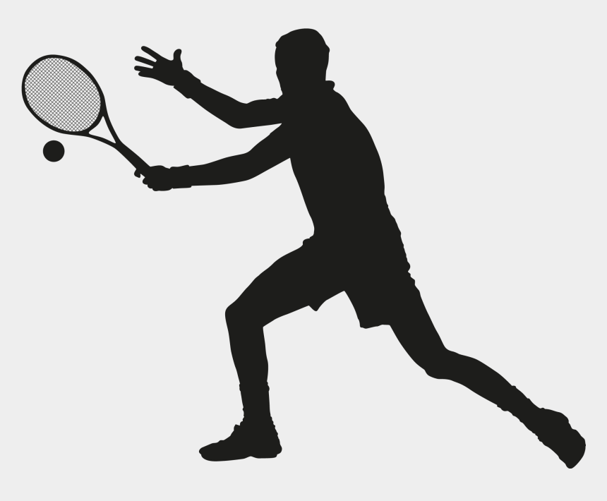tennis ball clipart, Cartoons - Ball Silhouette At Getdrawings Com Free For Ⓒ - Tennis Player Vector Png