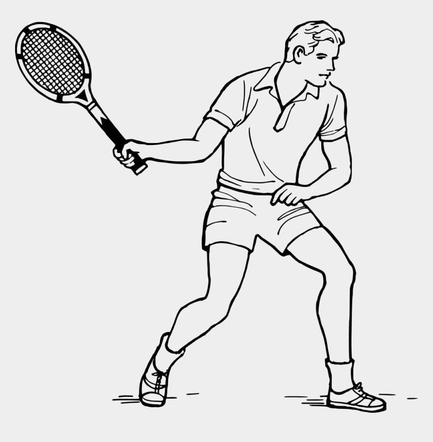 tennis ball clipart, Cartoons - Clip Art Details - Someone Playing Tennis Drawing