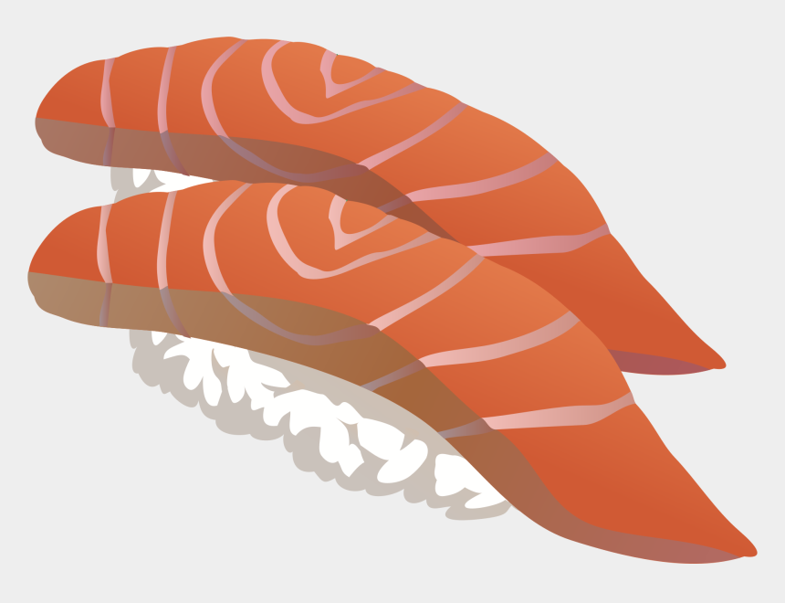 salmon clipart, Cartoons - Sushi Japanese Cuisine Sashimi Salmon As Food - Sushi Transparent Clip Art