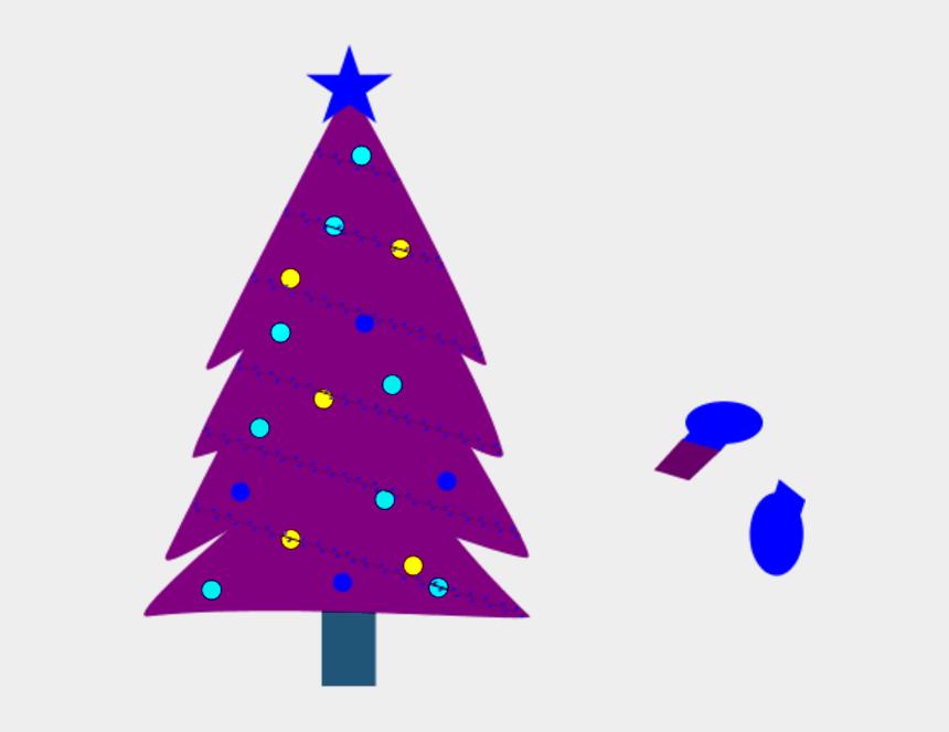 christmas trees clipart, Cartoons - Christmas Tree Clipart Purple - Christmas Tree Colors Transparent