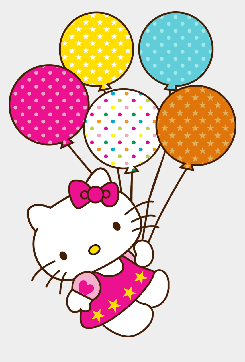 balloons clipart, Cartoons - Halloween Balloons Clipart - Birthday Hello Kitty Png
