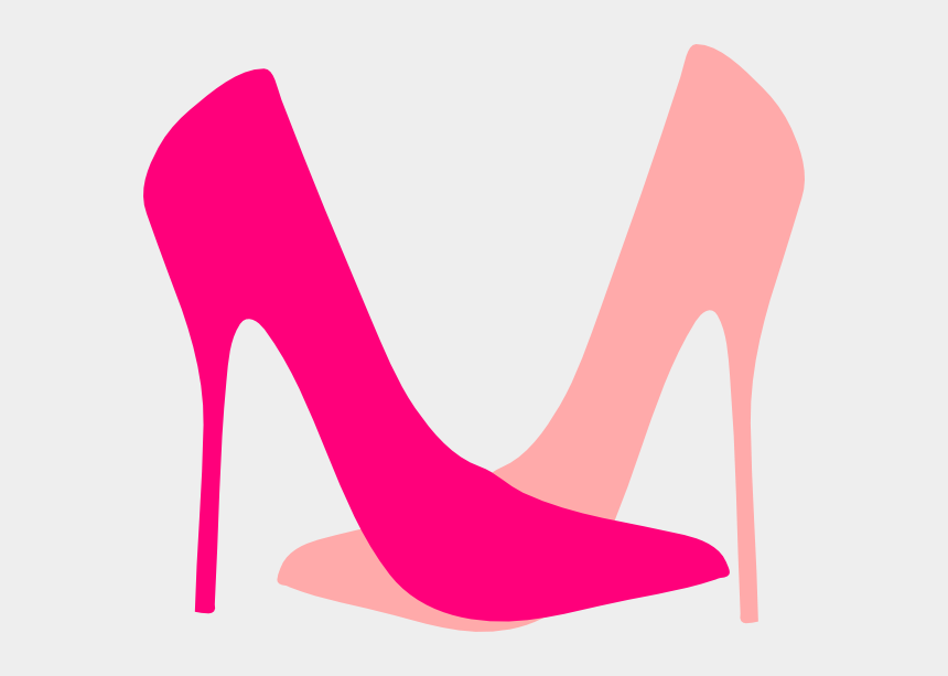 shoe clipart, Cartoons - Cartoon Pink High Heels