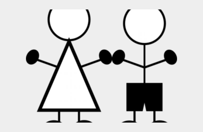 stick figure clipart, Cartoons - Stick Figure Clipart - Stick Figure Boy And Girl Clipart