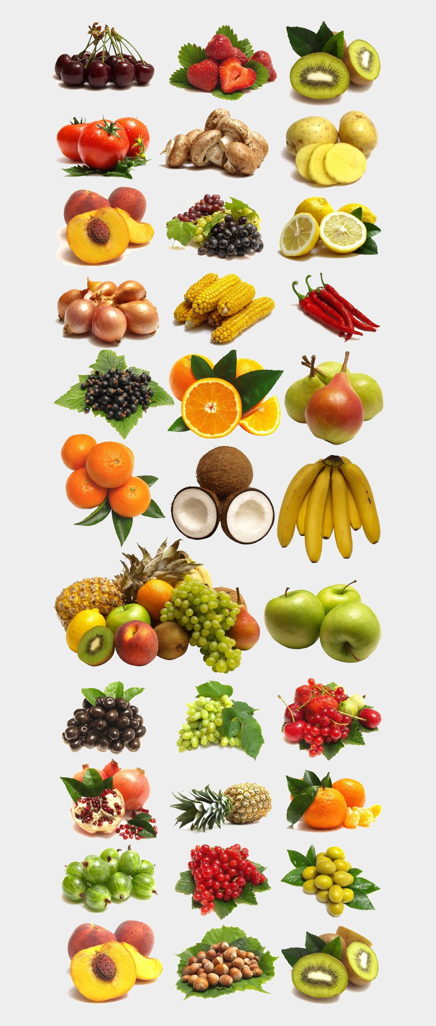fruits clipart, Cartoons - And Of Vegetables Collection Large Fruits Clipart - Fruits Png