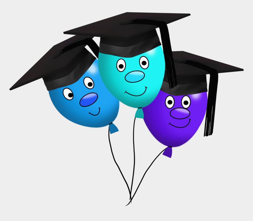 balloons clipart, Cartoons - Funny Graduation Balloons Clipart - Graduation Background Design Transparent