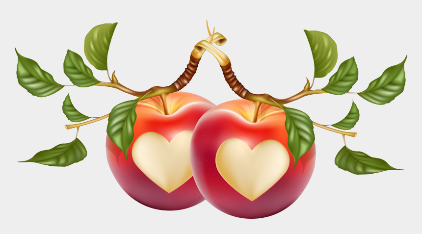 fruits clipart, Cartoons - Heart Shaped Baseball Clipart - Fruits In Love Shape