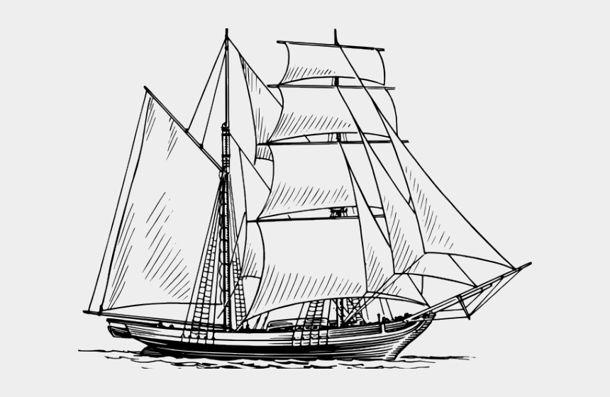 gardening clipart, Cartoons - Sailing Ship Clipart Garden - Clipper Ship