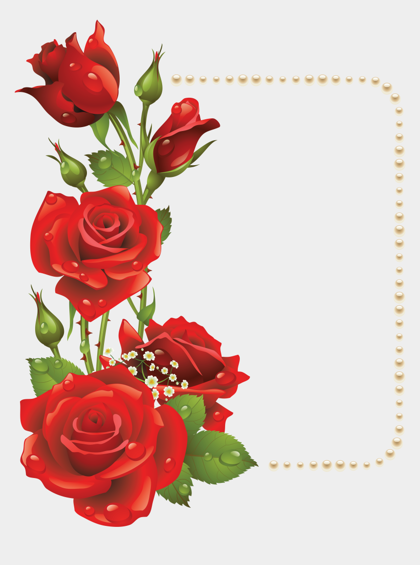 roses clipart, Cartoons - Valentines Day Roses Clipart Com Free For Personal - Rose Frame Design