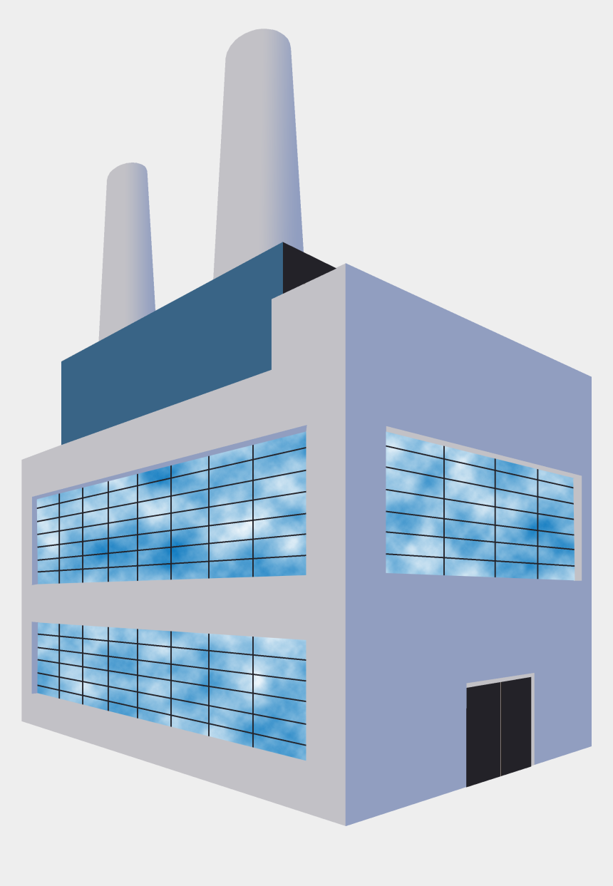 factory building with smoke stacks clipart, Cartoons - These Were Important Buildings To Draw Because Of The - Architecture