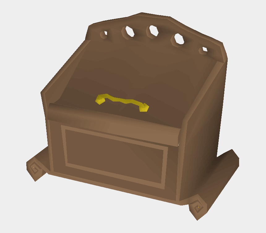 empty treasure chest clipart, Cartoons - Mahogany Toy Box - Wood