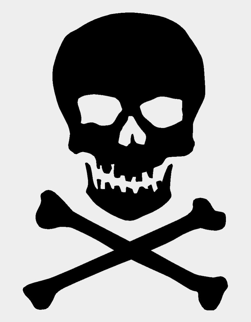 skeleton face clipart, Cartoons - Vector Skeleton Transparent - Skull And Crossbones Stencil