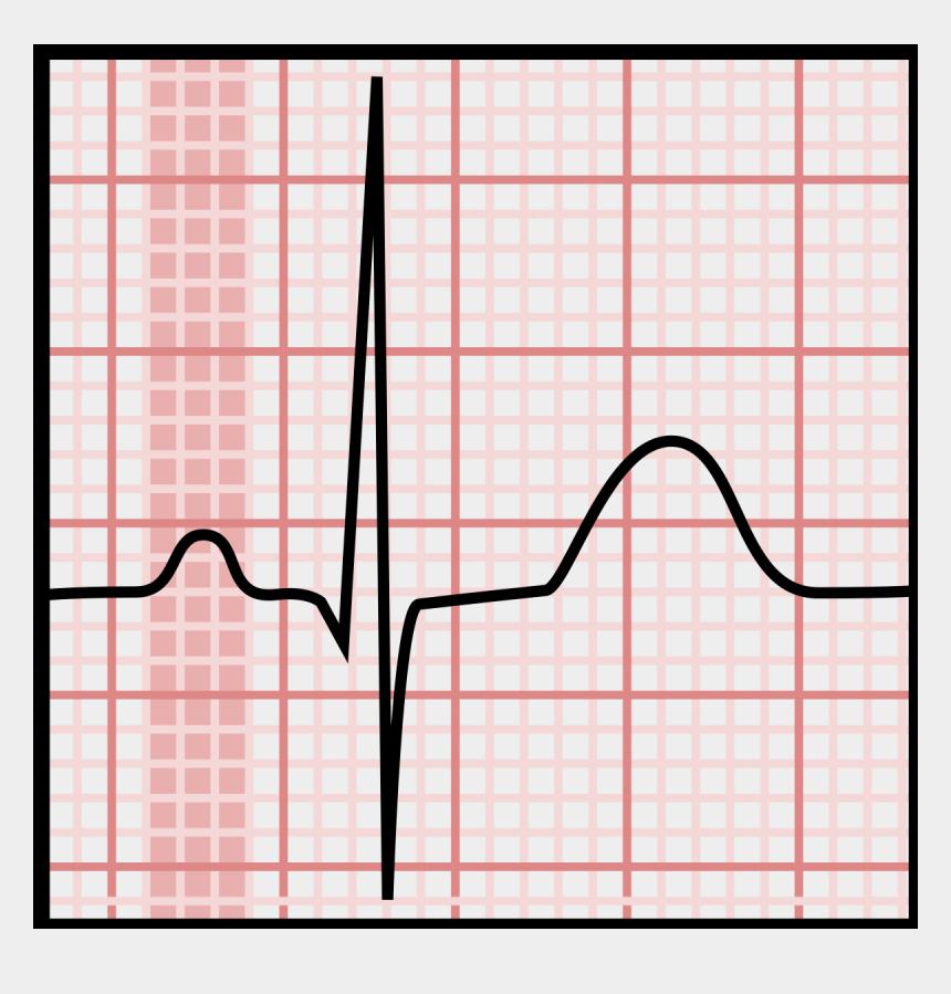 ecg clipart, Cartoons - Ekg Svg Heart Shaped - P Wave