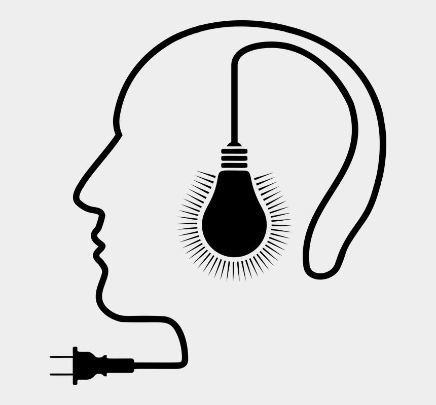 lightbulb brain clipart, Cartoons - Incandescent Light Bulb