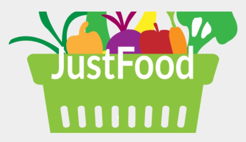 basket of vegetables clipart, Cartoons - Justfood Logo With Basket Of Fresh Vegetables And Fruits - Vegetables And Fruits Logo