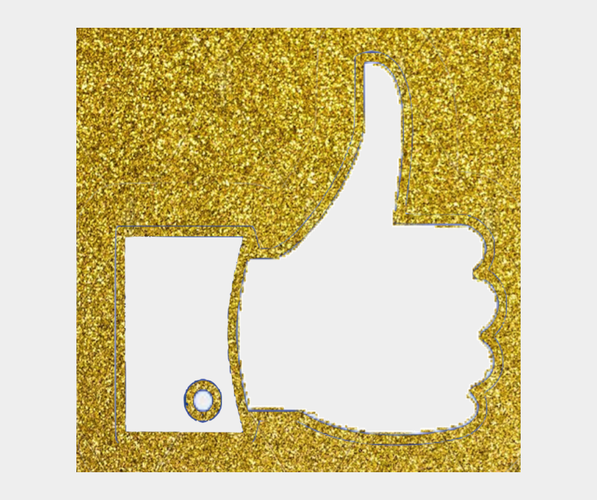 facebook like clipart, Cartoons - Facebook Thumb Like Vector - Facebook Like Icon Gold Png