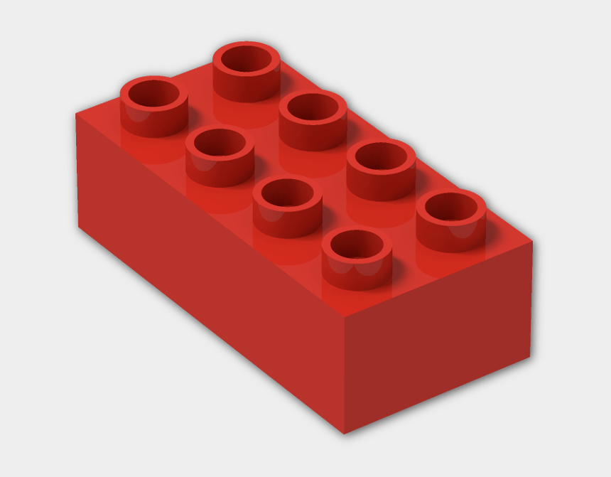 lego bricks clipart, Cartoons - Red Lego Brick Png - Red Duplo Block