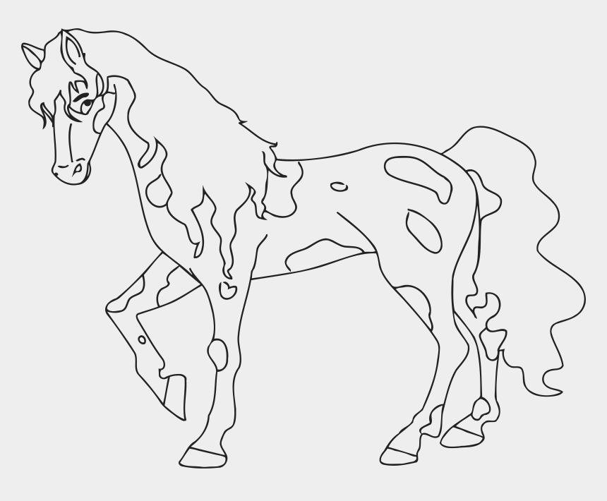 clipart of horse, Cartoons - Line Clipart Horse - Line Art
