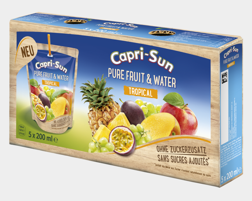 capri sun clipart, Cartoons - Capri Sun Pure Fruit & Water Tropical 5 X 0,2l - Pure Fruit & Water