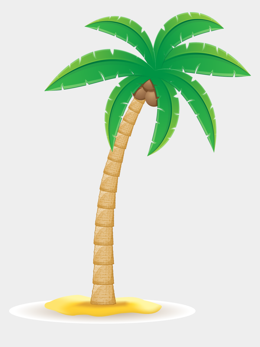 palm tree leaf clipart, Cartoons - Arecaceae Clip Art Transprent Png Ⓒ - Coconut Tree Vector Png