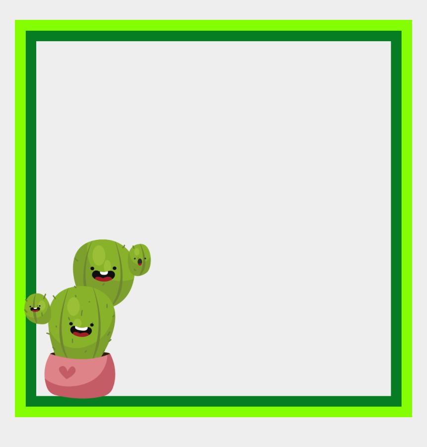 cactus border clipart, Cartoons - #mq #green #cactus #frame #frame #frames #border #borders - Cartoon