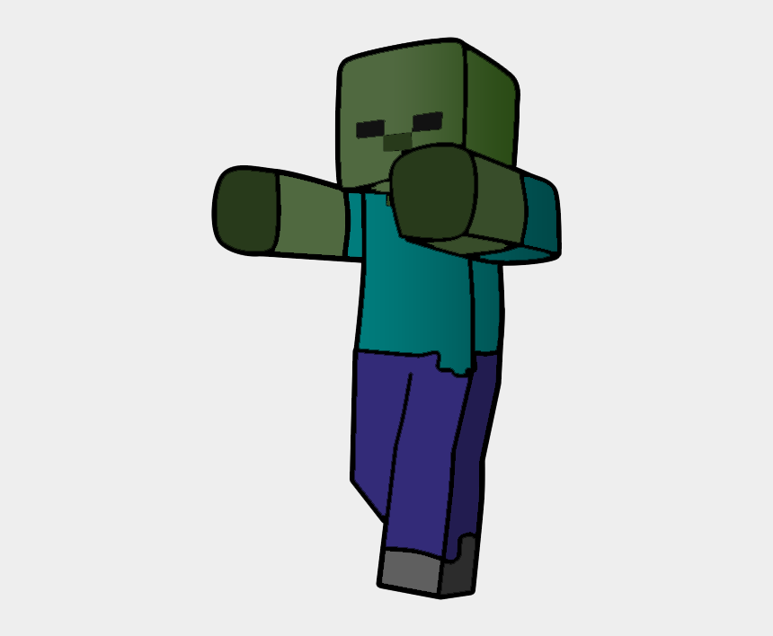 minecraft zombie clipart, Cartoons - Pequeño Zombie En Dibujo Digital - Zombies De Minecraft Animados