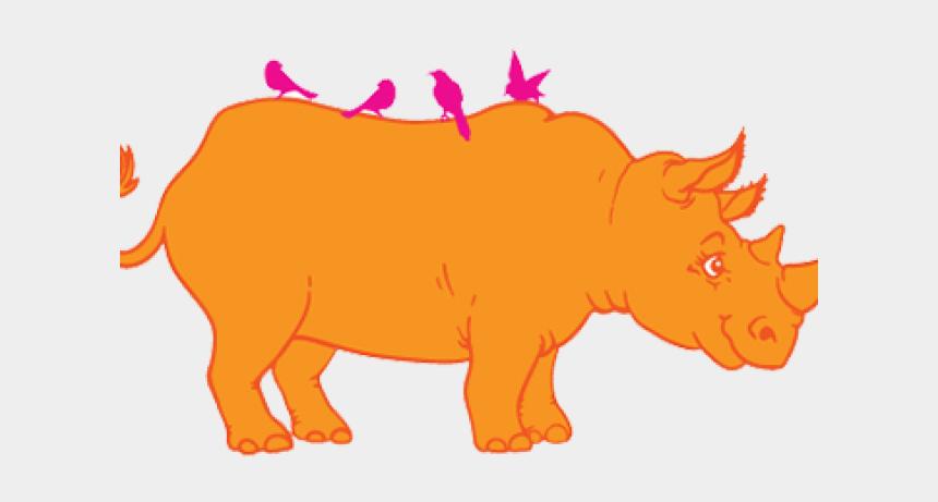 black rhino clipart, Cartoons - Orange Rhino