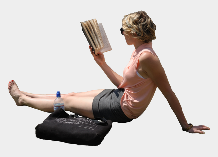 person laying down clipart, Cartoons - Woman Laying In Sun Reading Book Source - People Read Book Png