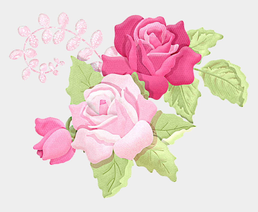shabby chic flowers clipart, Cartoons - Фото, Автор Khinevich - Rose Pink Vector Png