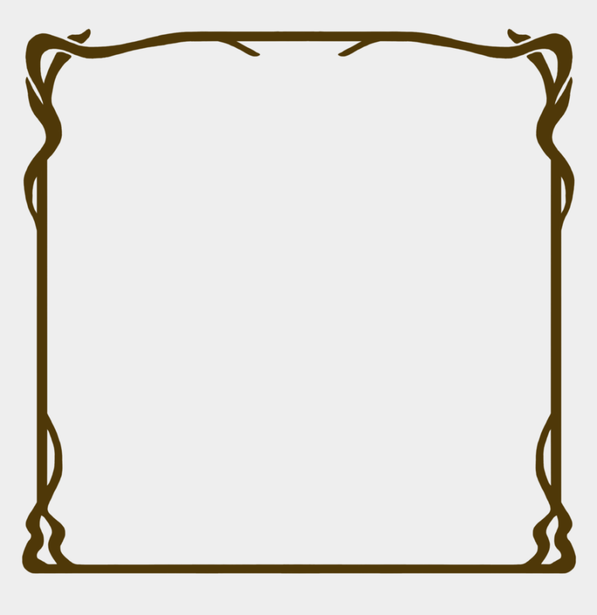art deco frame clipart, Cartoons - 518 Nouveau Frame 06 By Tigers-stock On Clipart Library - Brown Border Png