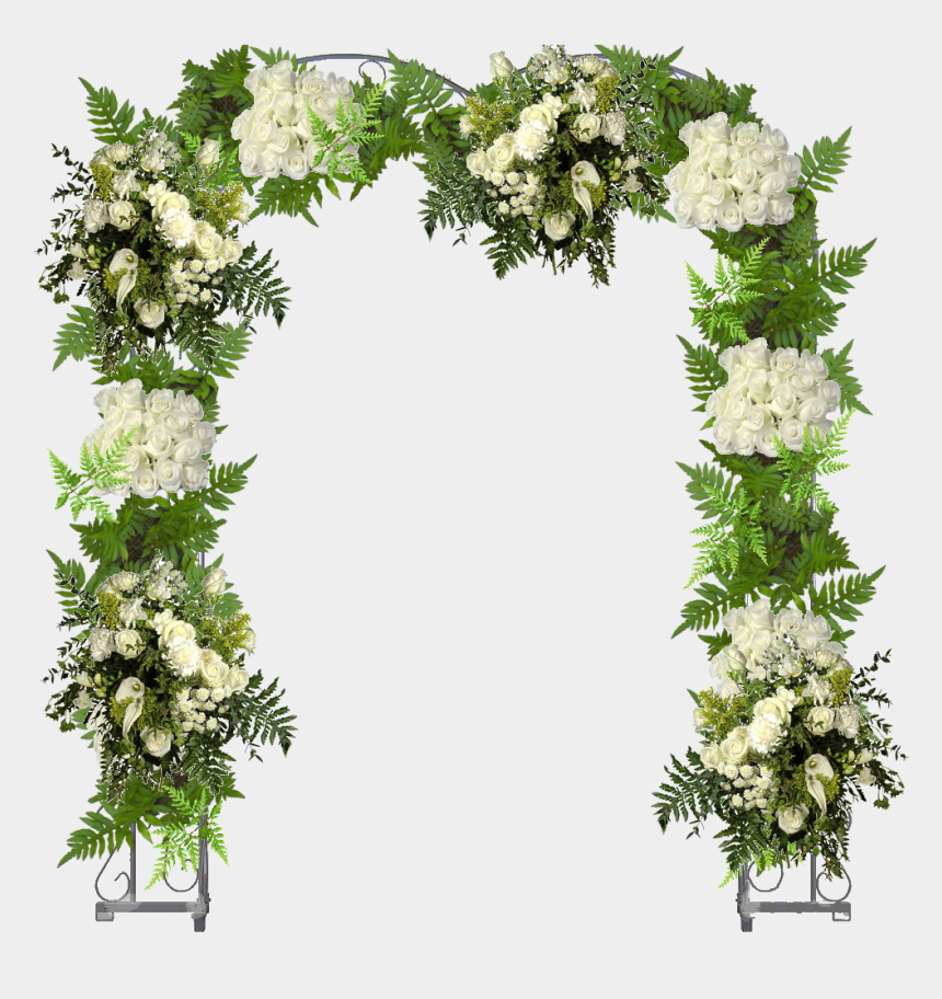flower arch clipart, Cartoons - Share The Story - Flower Arch Wedding Png