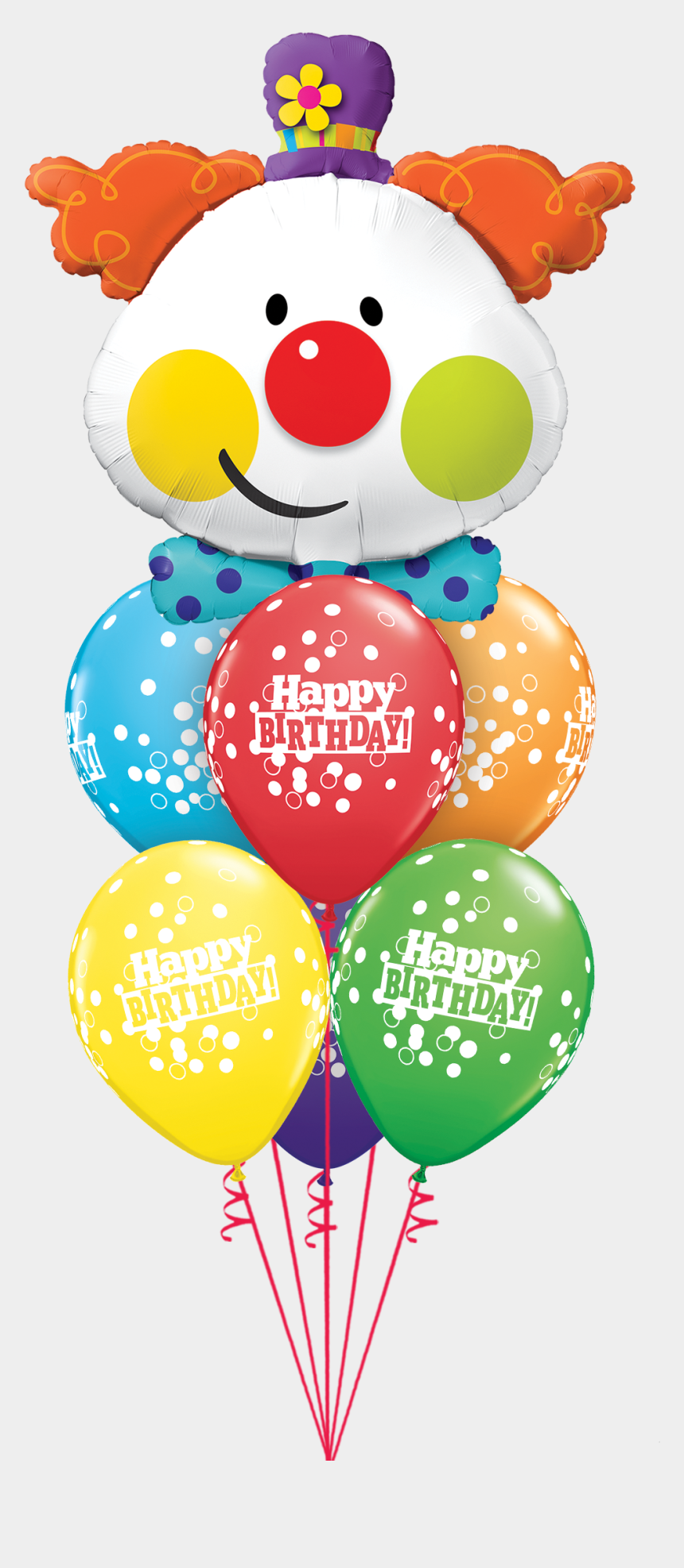 balloon bouquets clipart, Cartoons - Same Day Delivery , Express Delivery Within 2-3 Hours - Palloncino Pagliaccio