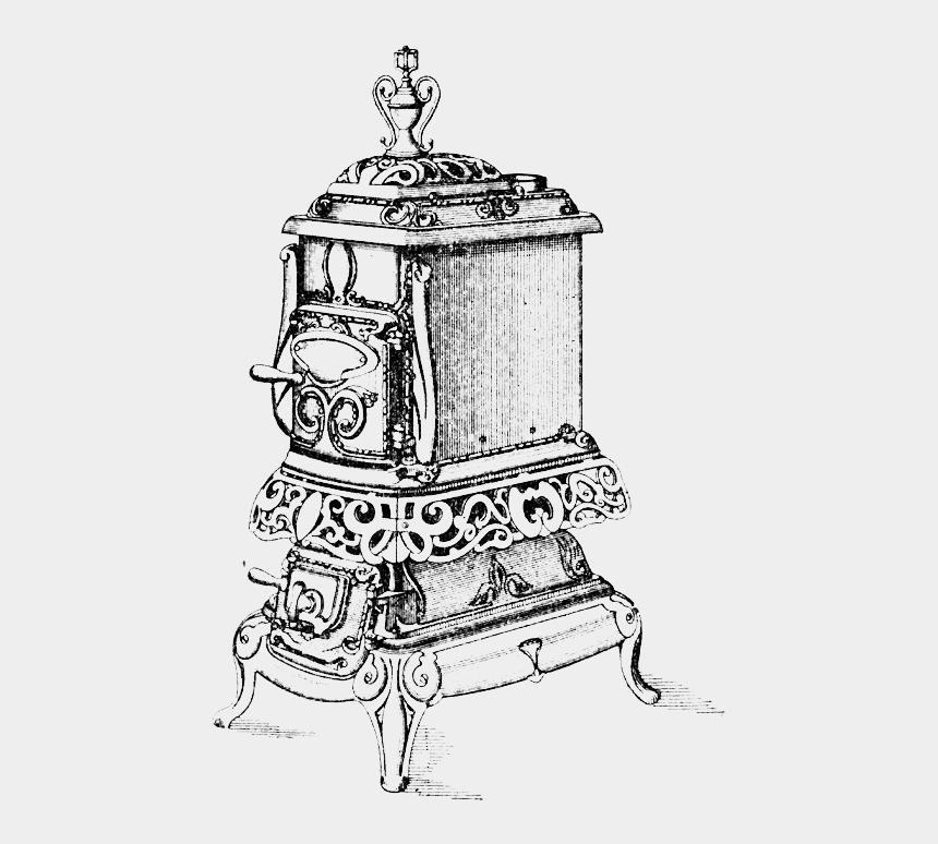 franklin stove clipart, Cartoons - Warm Up - Illustration