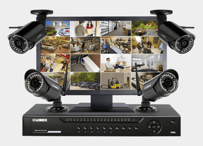 Wireless Security System Transparent Background - Security