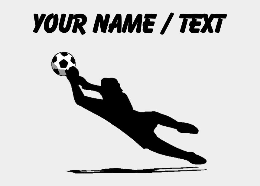 soccer silhouette clipart, Cartoons - Custom Soccer Silhouette Sports Bottle By Coolsoccergifts - Girl Soccer Goalie