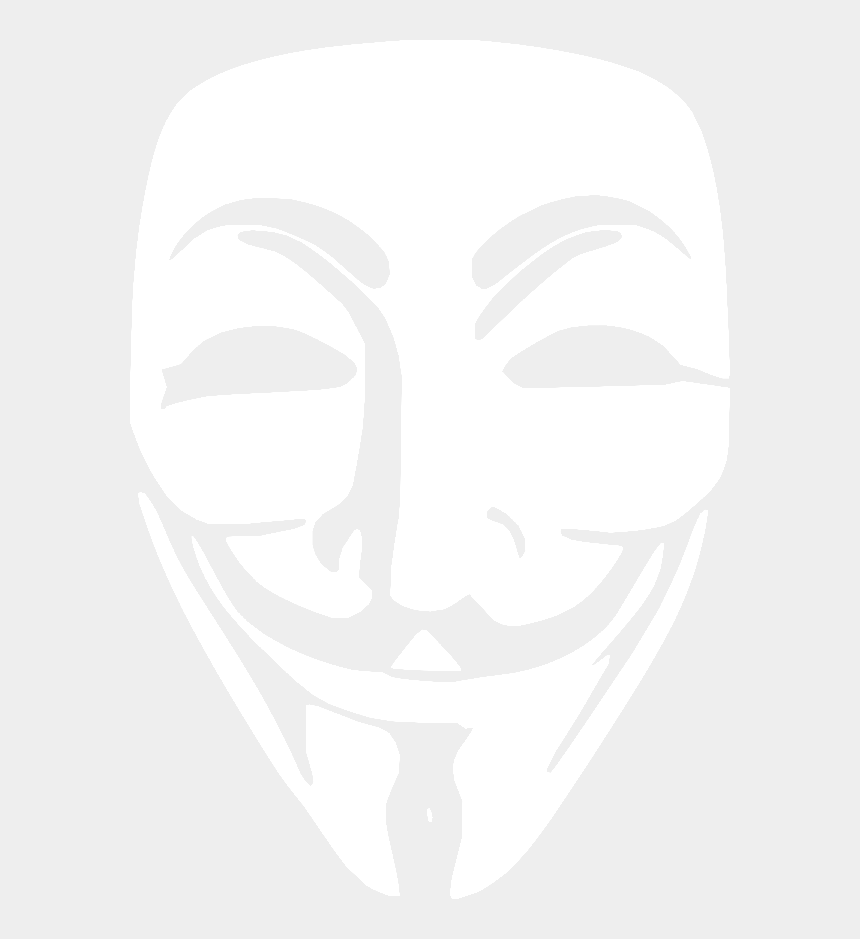 computer hacker clipart, Cartoons - White Anonymous Face Mask - Anonymous Guy Fawkes Mask