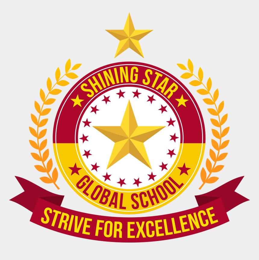 driving to school clipart, Cartoons - Pin Shining Star Badges On Pinterest - School Logo Design Png