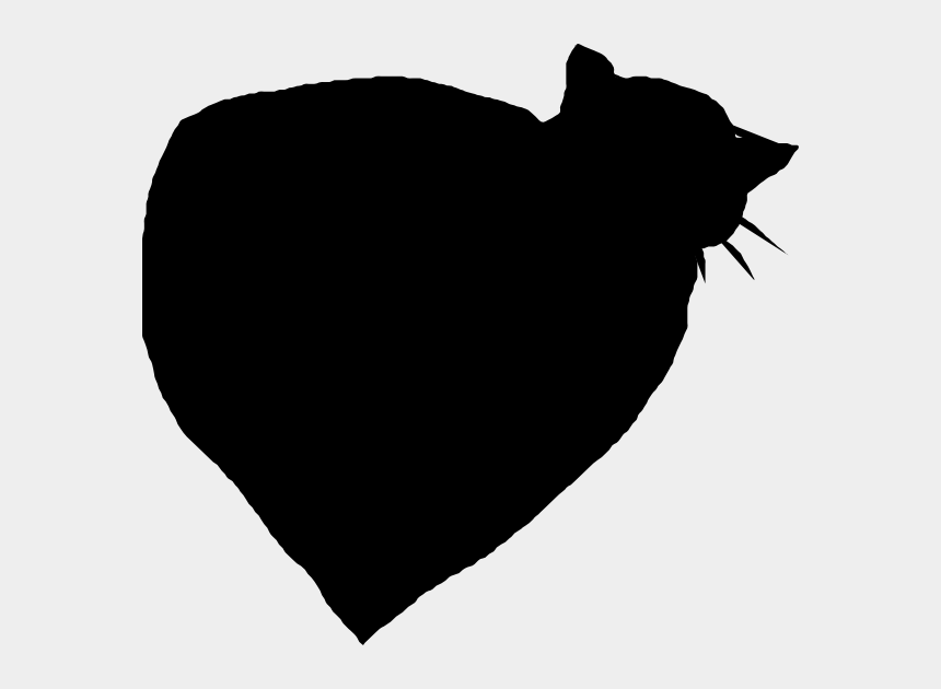 small black heart clipart, Cartoons - And Heart - Cat Yawns