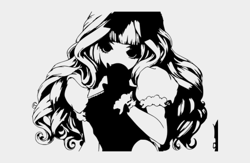girl hiking clipart, Cartoons - Anime Girl Clipart Shy - Anime Girl With Silver Curly Hair