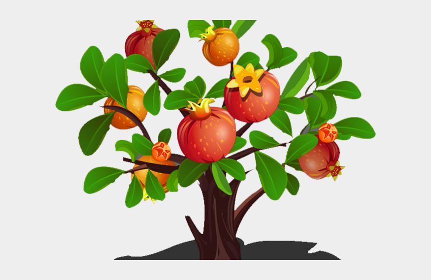 tree with fruit clipart, Cartoons - Cherry Tree Clipart Pomegranate - Pomegranate Tree Clipart