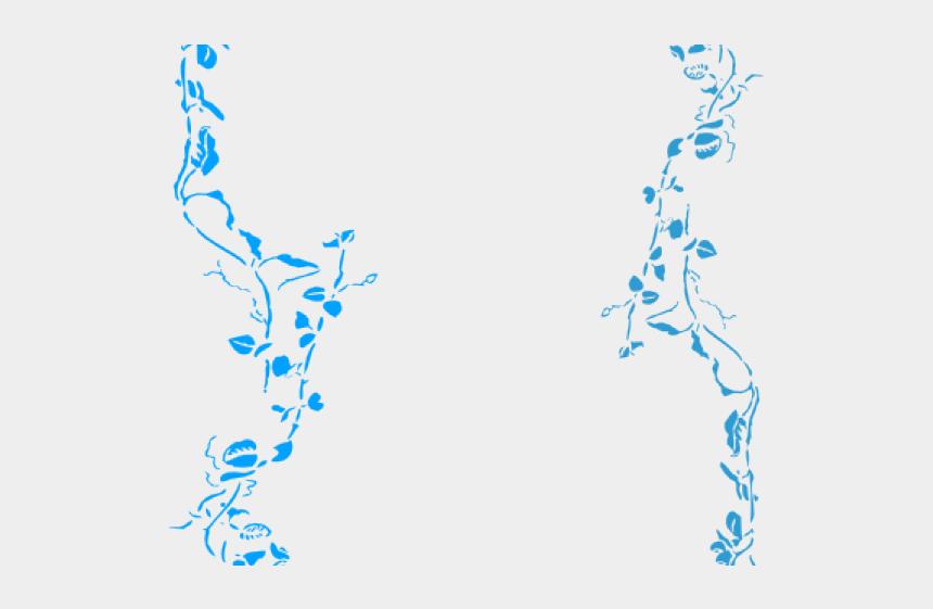 blue frame clipart, Cartoons - Frame Clipart Blue Flower - Green Floral Border Png
