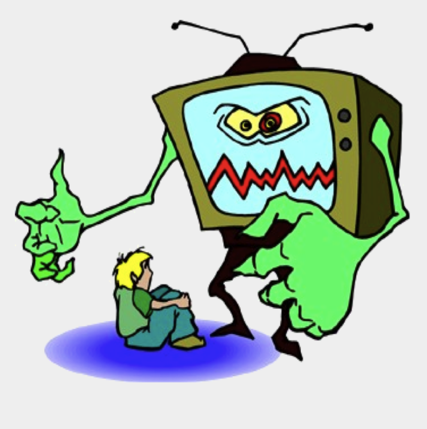 child talking clipart, Cartoons - Kids Watching Tv Clipart - Tv Violence And Children