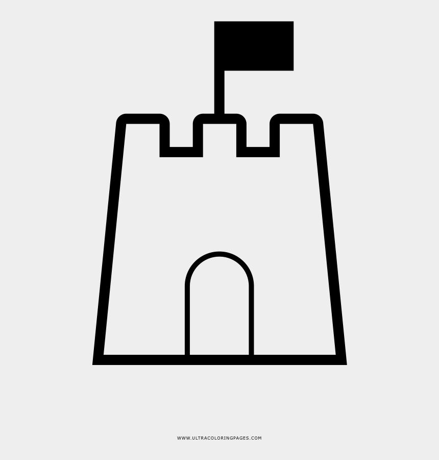 sand castles clipart, Cartoons - Sand Castle Coloring Page - Outline Of A Sandcastle