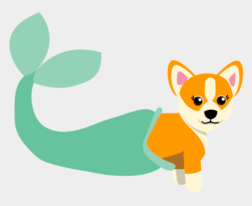 corgi dog clipart, Cartoons - 'we Were Mermaid For Each Other' Mer-corgi Sticker - Chihuahua