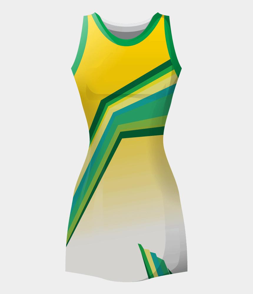 uniforms clipart, Cartoons - Netball Clipart Netball Uniform - Netball Dress Designs Yellow White And Green