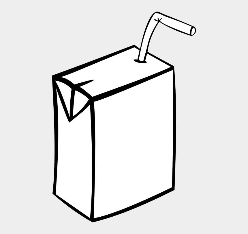 juice box clipart black and white, Cartoons - Box, Juice, Carton, Plain, Straw, Juice - Juice Clipart Black And White