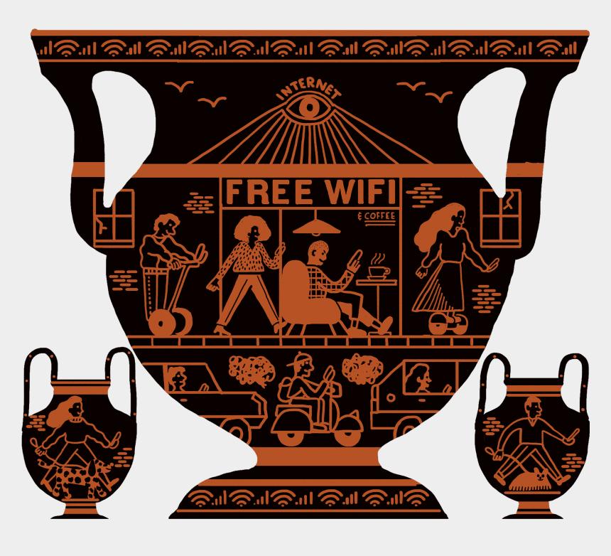 greek god atlas clipart, Cartoons - Internet God Vases - Poster