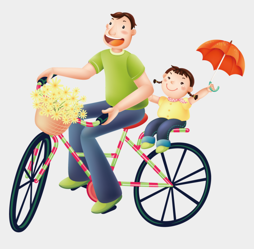 dad and daughter clipart, Cartoons - Father Birthday Wish And Cycling Transprent Png Ⓒ - Father Daughter Birthday